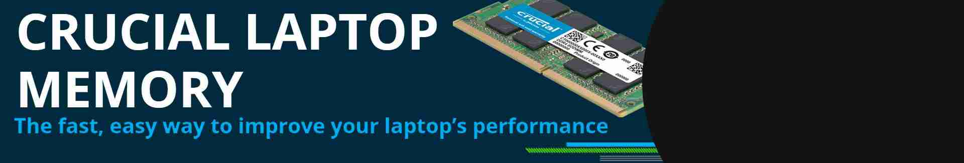 M2M 'memory' priority banner - crucial laptop memory